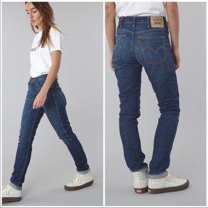 Levi's Big E High Rise 606 Orange Tab Jeans